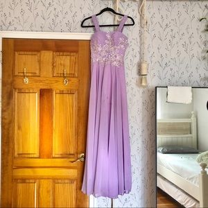 Lavender evening gown/prom dress